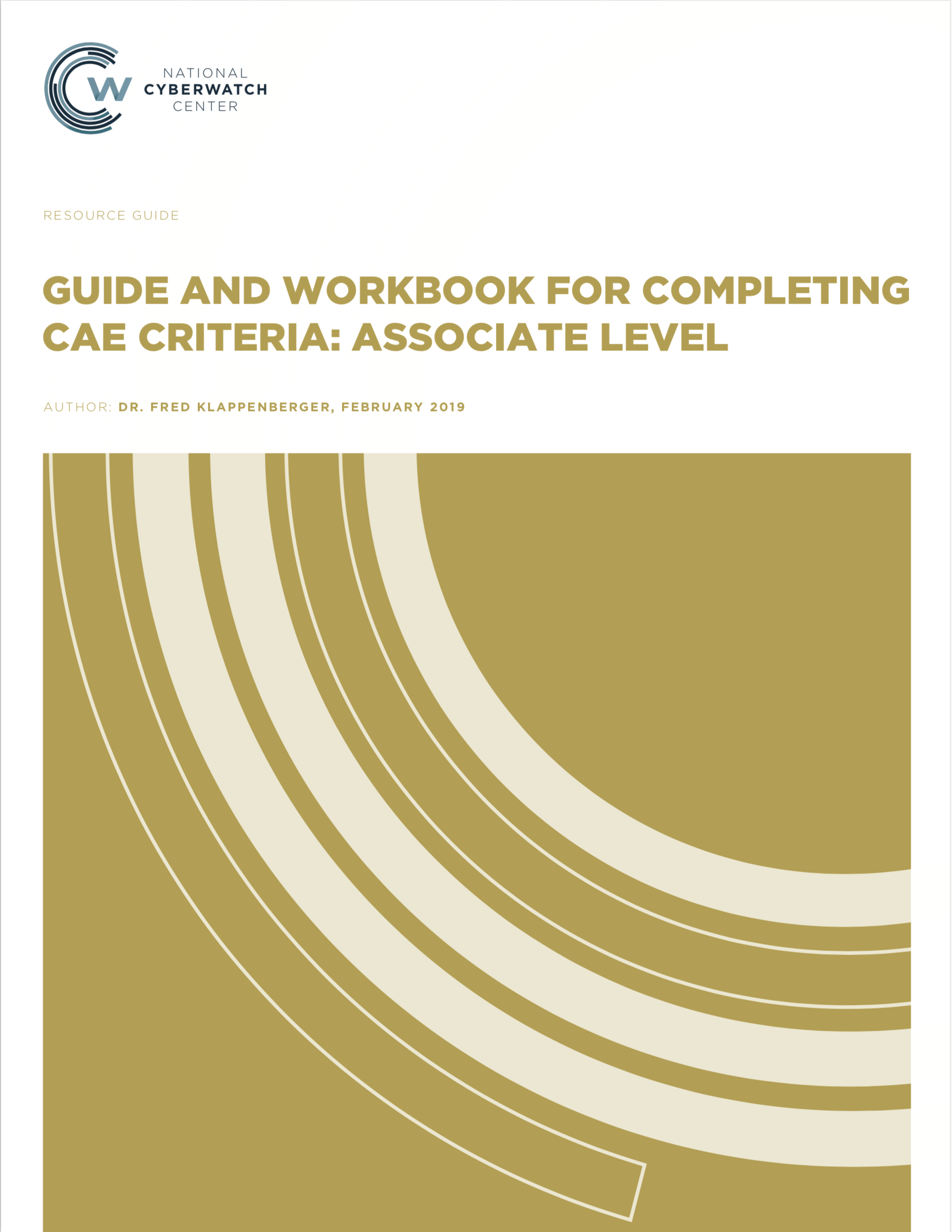 Guide and Workbook for Completing CAE Criteria: Associate Level