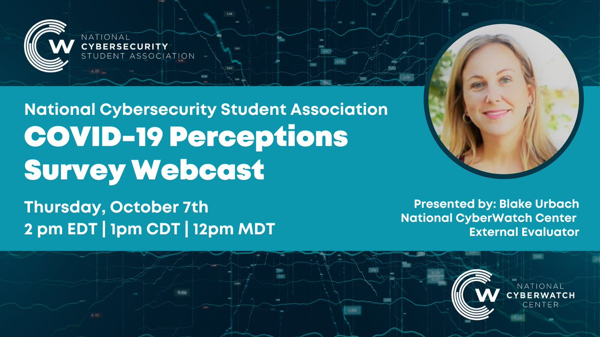National Cybersecurity Student Association COVID-19 Perceptions Survey Webcast